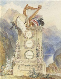 the memorial to byron, scott and moore by joseph mallord william turner
