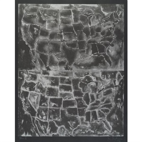 two maps ii by jasper johns