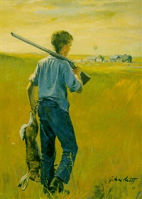 boy hunting by john walter scott