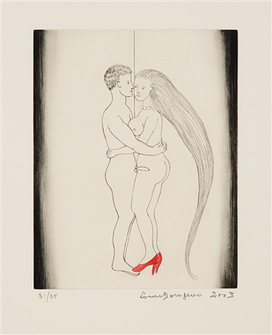 the couple from la réparation by louise bourgeois