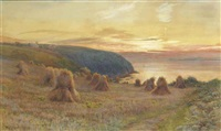 sunset, st. austell's bay, cornwall by walter follen bishop