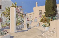 garden, patmos (+ 2 others; 3 works) by roger tourte
