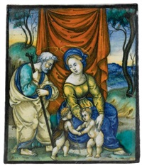 the holy family with saint john the baptist by francesco (fra xanto) xanto avelli