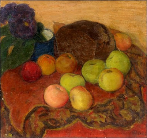 still life with apples by anna petrovna ostroumova lebedeva