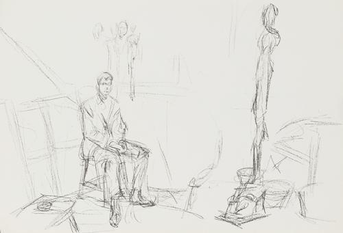 derrière le miroir (9 works) by alberto giacometti