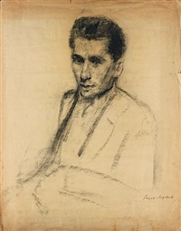 portrait de dimitri snegaroff by francois angiboult