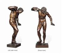 model of 'the dancing faun' by massimiliano (benzi) soldani
