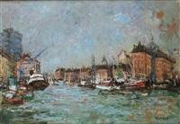 le port du havre by joseph raumann