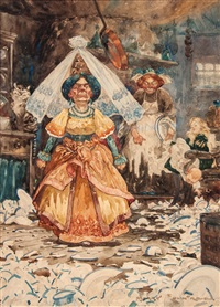 the frying pan just missed her from alice's adventures in wonderland by harry rountree