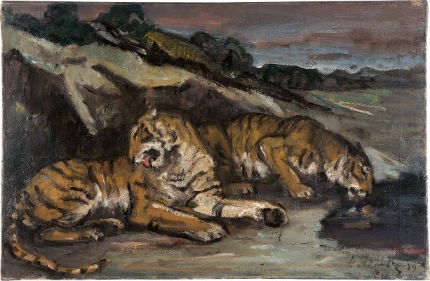 liegende tiger by leo von könig