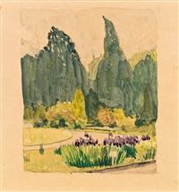 die iris blüte by hans böhler
