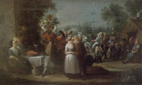 flemish peasants festive celebrations by egbert van heemskerck
