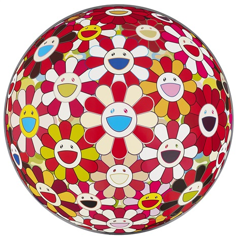 flower ball (3-d) (+ 2 others; set of 3) by takashi murakami