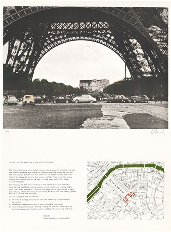 project for the wrapping of the ecole militaire by christo and jeanne claude