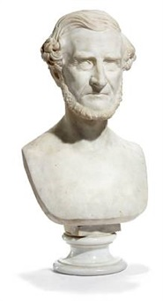 a portrait bust of frederik hammerich by august vilhelm saabye