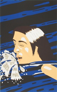 the swimmer by alex katz