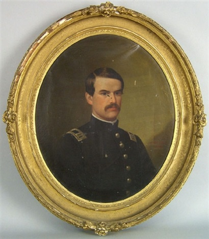 portrait of a civil war officer by michael strieby nachtrieb