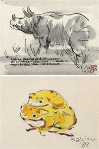 犀牛 青蛙 by liu chiwei
