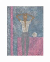 hombre con los brazos sobre la cabeza, from: rufino tamayo 8 aguafuertes by rufino tamayo