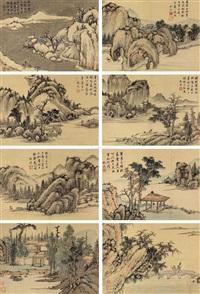 山水清兴 (8 works) by shen zhou
