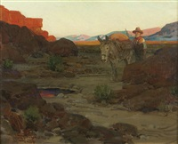 the pool in the desert by frank tenney johnson