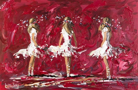 three girls on red by lorna millar