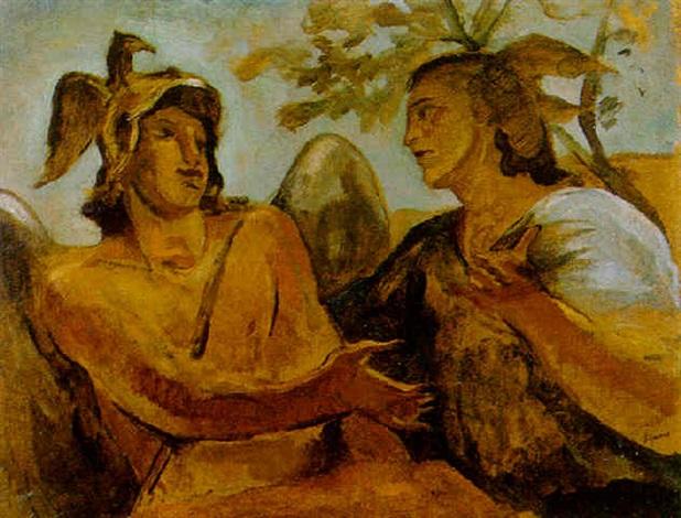 mercurio e minerva by scipione gino bonichi