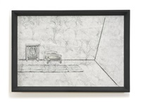 clothes, closet, bed, rug, corner by richard artschwager