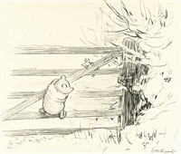 so they got down off the gate by ernest h. shepard
