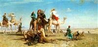 la chasse a la gazelle by léon adolphe auguste belly