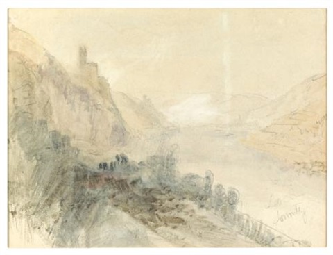 burg sooneck on the rhine germany burg nollig on the rhine germany verso by joseph mallord william turner