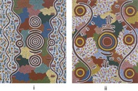 untitled (2 works) by tjakamarra michael nelson