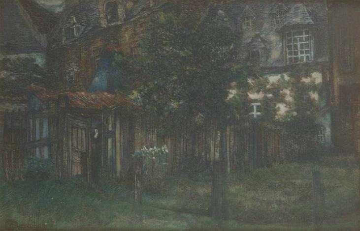 arrière de maison by alfred napoléon delaunois
