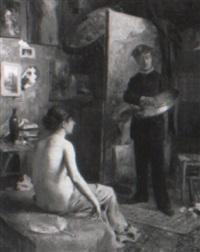le peintre et son modele by louis adolphe tessier