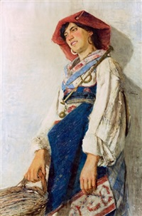 peasant girl by augusto daini