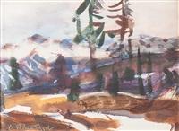 vorwinter im hochgebirge by hans josef weber-tyrol