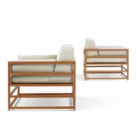 linear lounge chairs (pair) by hugh newell jacobsen