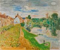 paysage de nemours by gabriel francisque alexis fournier