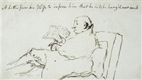 the fiddler (recto); a letter from his wife to inform him that he is to be hand'g next week (verso) by thomas rowlandson