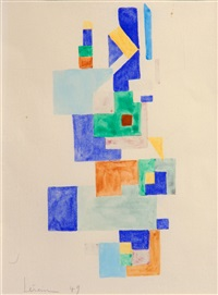 composition abstraite, 49 by guy claude lerein