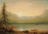lake view at sunset by john white allen scott