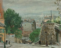 rue du mont cenis, montmartre, paris by paul de laboulaye