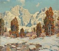 winterlandschaft im dachsteingebiet by alexander dobrik