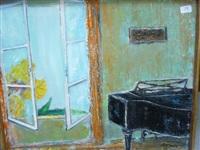 piano devant la fenêtre by roussin