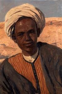 portrait d'un fellah by georg macco