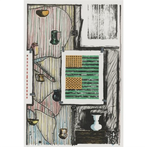 ventriloquist by jasper johns
