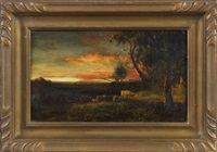 evening landscape by patrick vincent berry