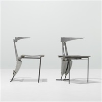 nee chairs from the leon max showroom (pair) by thom mayne