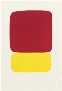 orange with blue; and red over yellow; 2 works) by ellsworth kelly