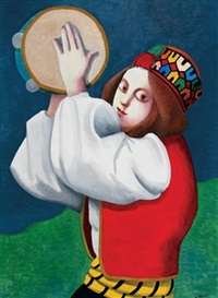 tambourine player by louise scott